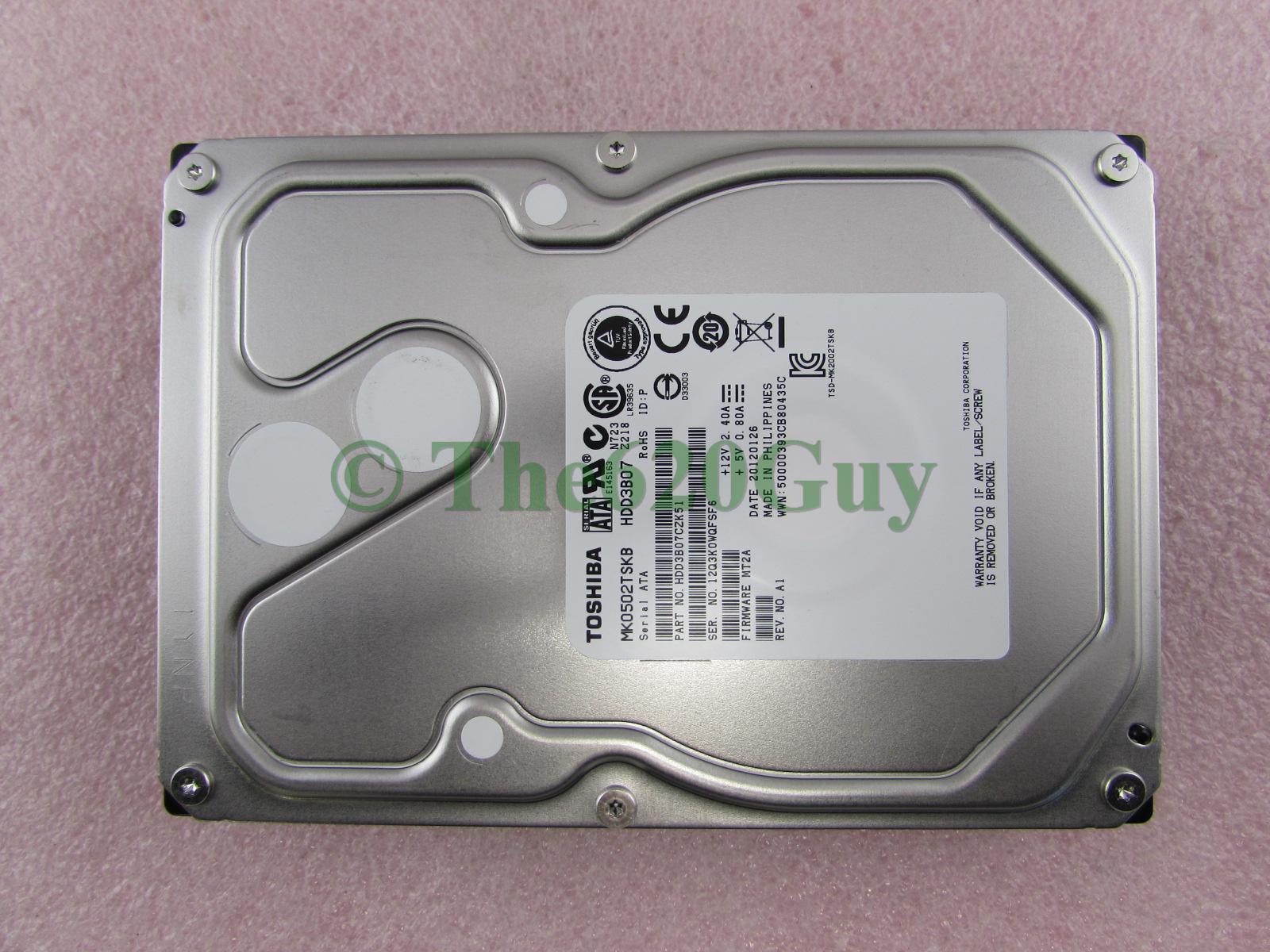 Toshiba MK0502TSKB 500GB 7200RPM 64MB SATA Hard Drive
