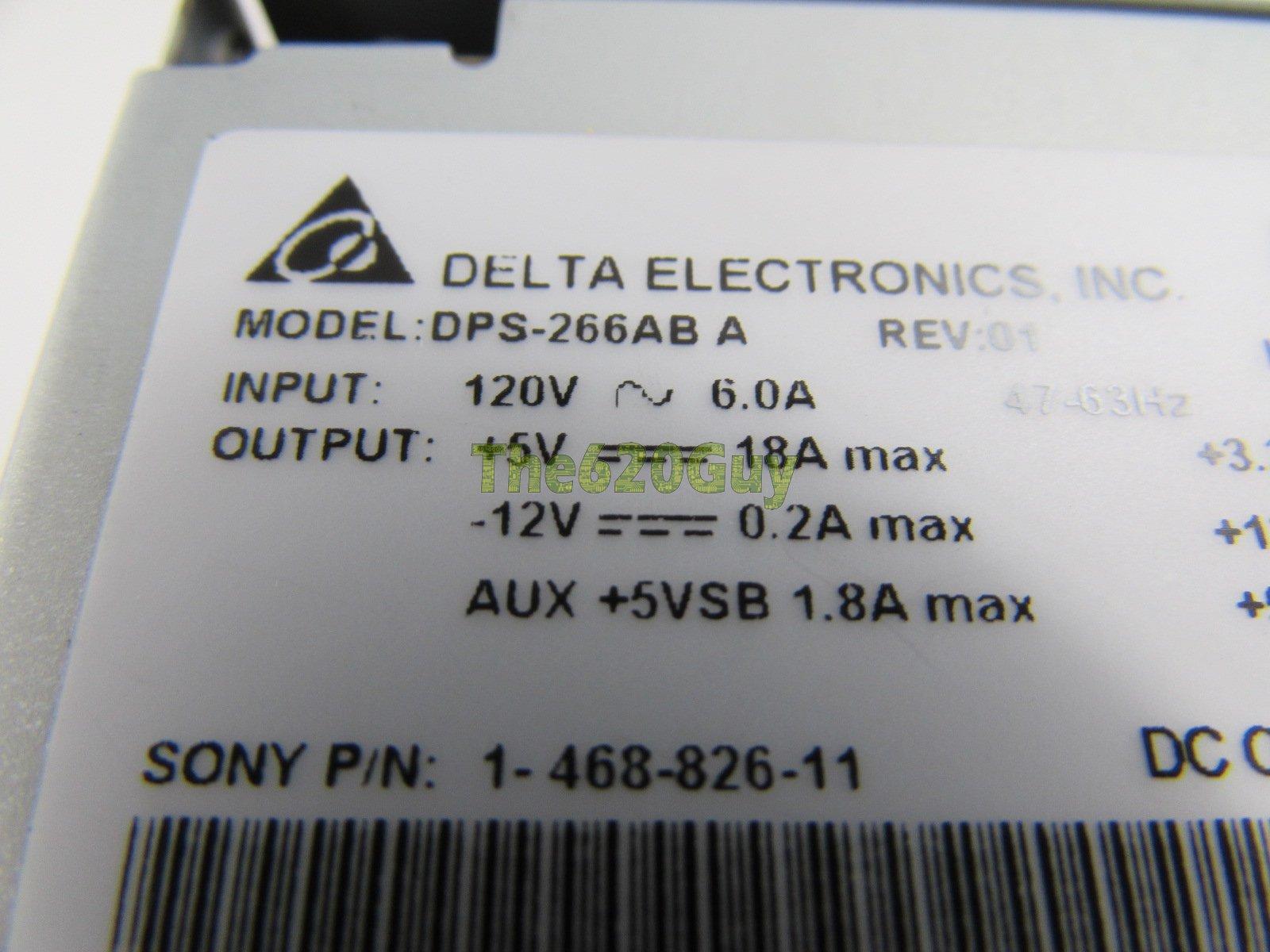 Sony PCV-2244 300 Watts 300W SFX12V Desktop Power Supply PSU Delta  DPS-266AB A