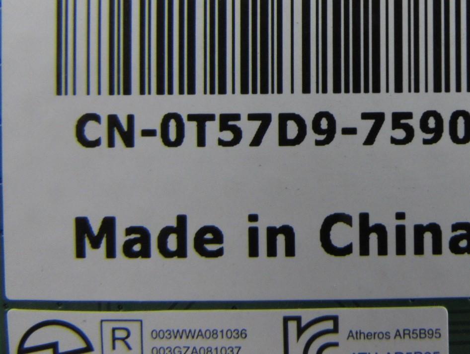 Dell T57D9 0T57D9 DW1502 802 11b/g/n WiFi Wireless Half Mini PCI-E Card  AR5B95