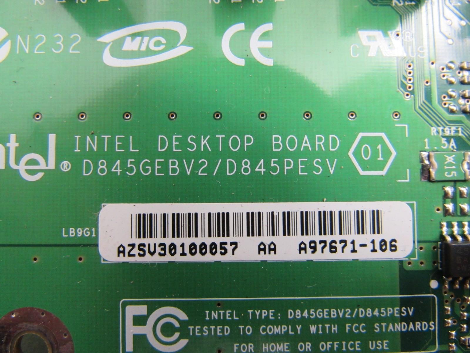 intel desktop board d845gebv2 d845pesv