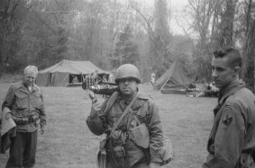 Campana captures Schade and several of the 94th soldiers with his original camera at Graeme Park. Credit: Jesse Campana.