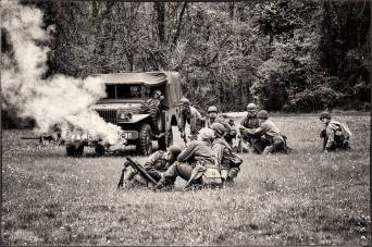 The 94th deploys and engages the enemy with one of its two mortar teams. Credit: Unsure.