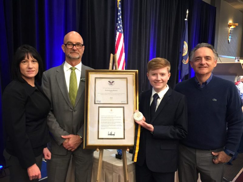 Alex Knoll Prudential Spirit of Community Award