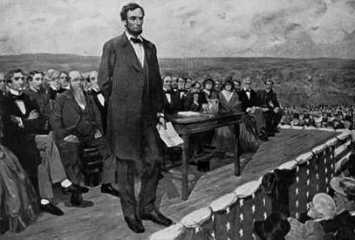 lincoln giving gettyberg address