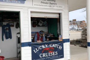 front office of lucky catch cruises portland maine lobster boat tour