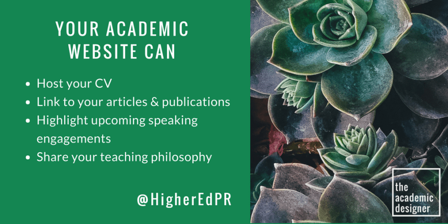 Your Academic Website Can (Twitter)