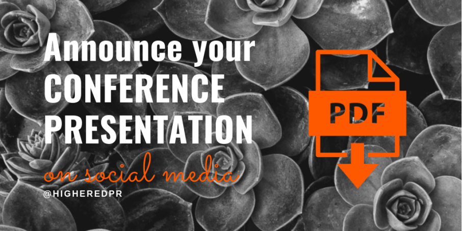 Announce your conference presentation on social media