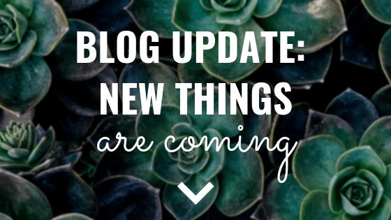 Blog Update New Things