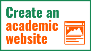 Create an academic website