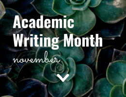 Academic Writing Month, November