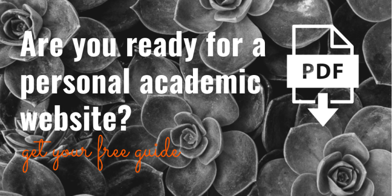 Are you ready for a personal academic website? Get your free guide