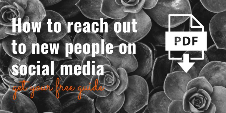 How to reach out to new people on social media