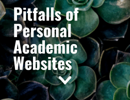 Pitfalls of Personal Academic Websites