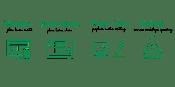 Websites, Social Media, Design and Copy, Training