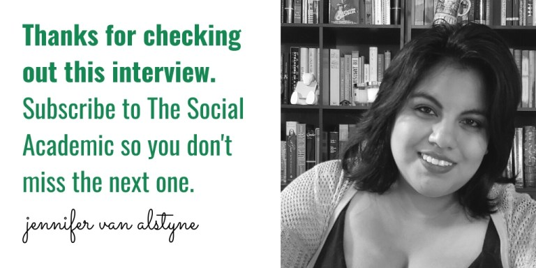 Thanks for checking out this interview. Subscribe to The Social Academic so you don't miss the next one.