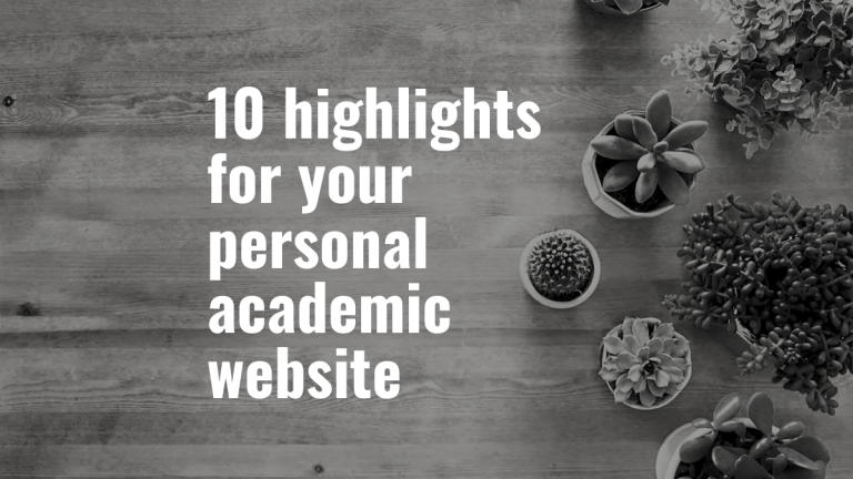 10 highlights for your personal academic website in 2020