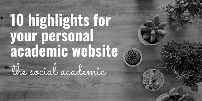 Discover 10 highlights to include on your personal academic website in the new year Blog Header