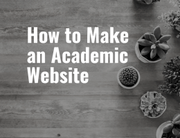 How to Make an Academic Website Featured Image