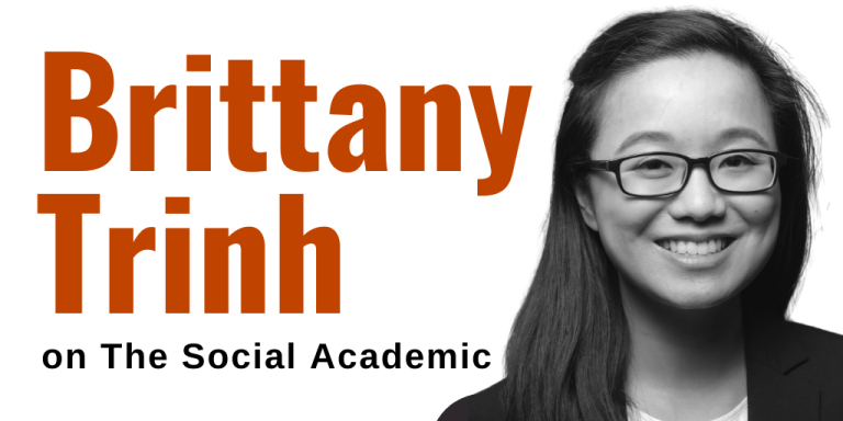 Brittany Trinh on The Social Academic with headshot