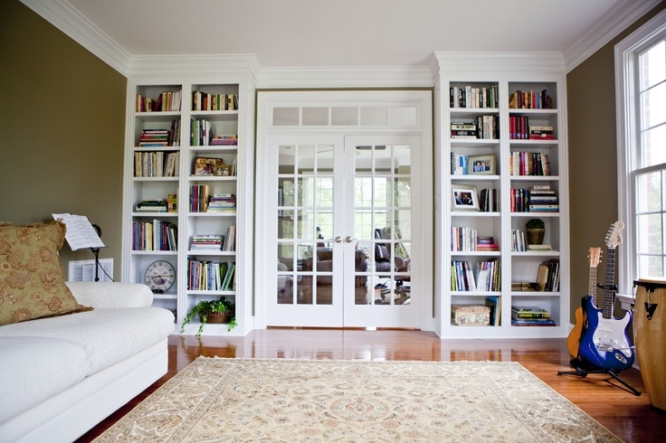 DIY Bookcase Built Ins