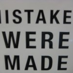 We can't stop making mistakes, but perhaps we can learn from them