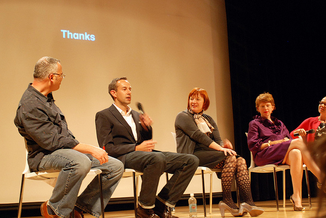 A panel discussion is all about finding a way to exchange ideas