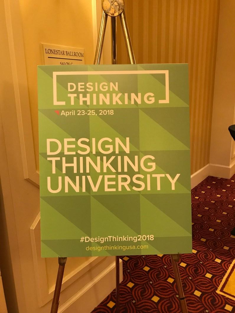 Design Thinking University Sign
