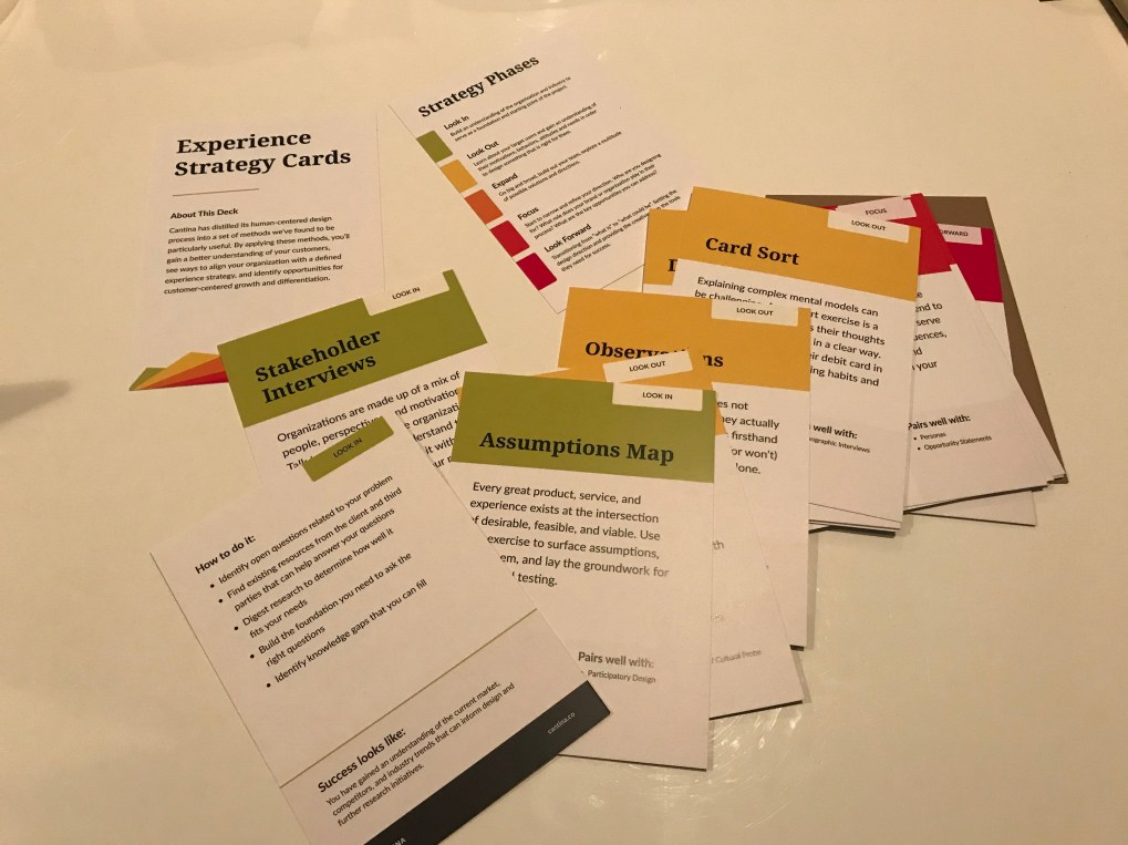 Experience Strategy Cards Cantina
