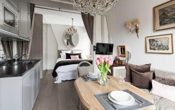 Cremant-de-Bourgogne-Paris-Studio-Dining-Area-and-Kitchen
