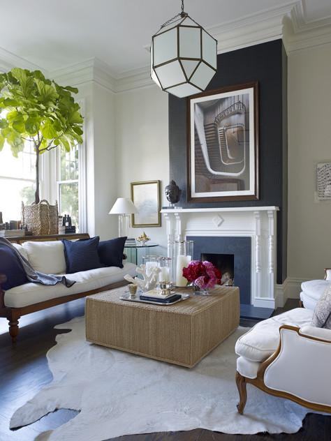 Ken Fulk:: A Glimpse Behind the Magic Curtain #blueandwhite #livingrooms