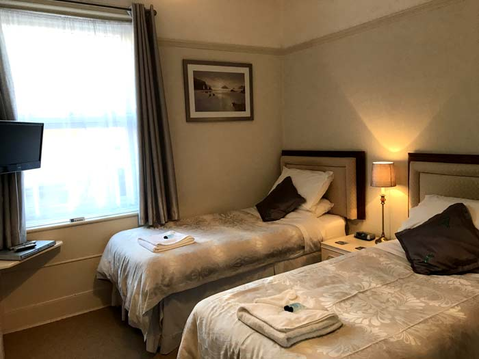 Twin room in the Acorn Lodge B and B