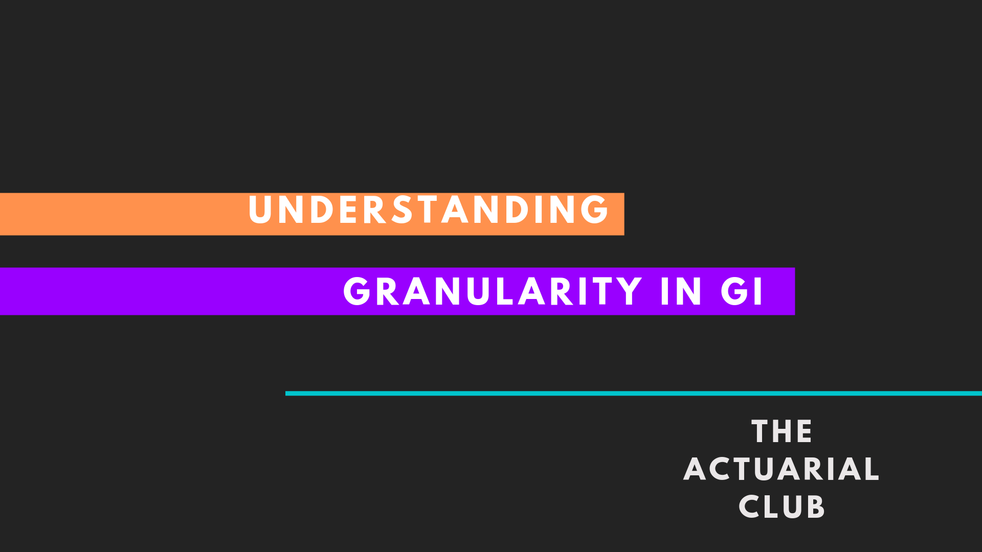 Importance of Granularity in General Insurance