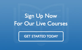 Sign Up Today For Our Live Courses