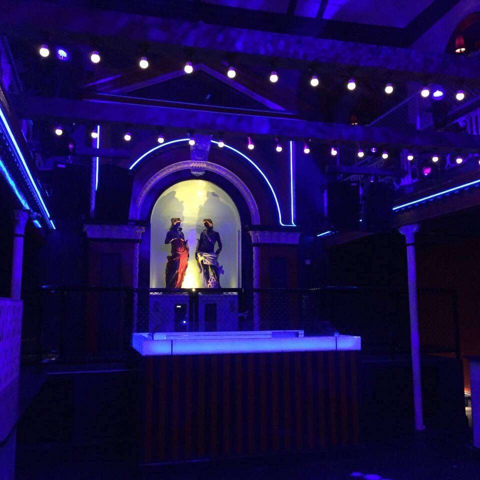 The party gods will watch over dancers all night at Hacienda