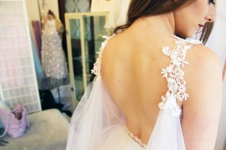 Back details of a Lady Petrova gown