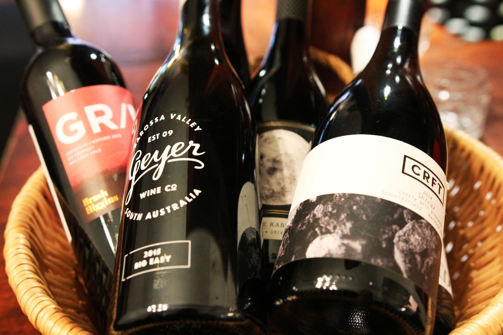 A small selection of the many wines available