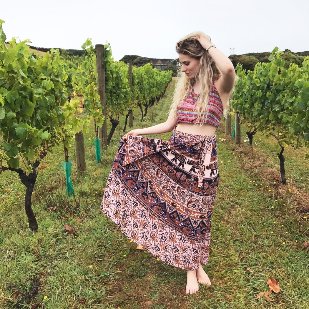 Dancing barefoot in the vineyards on Waiheke Island