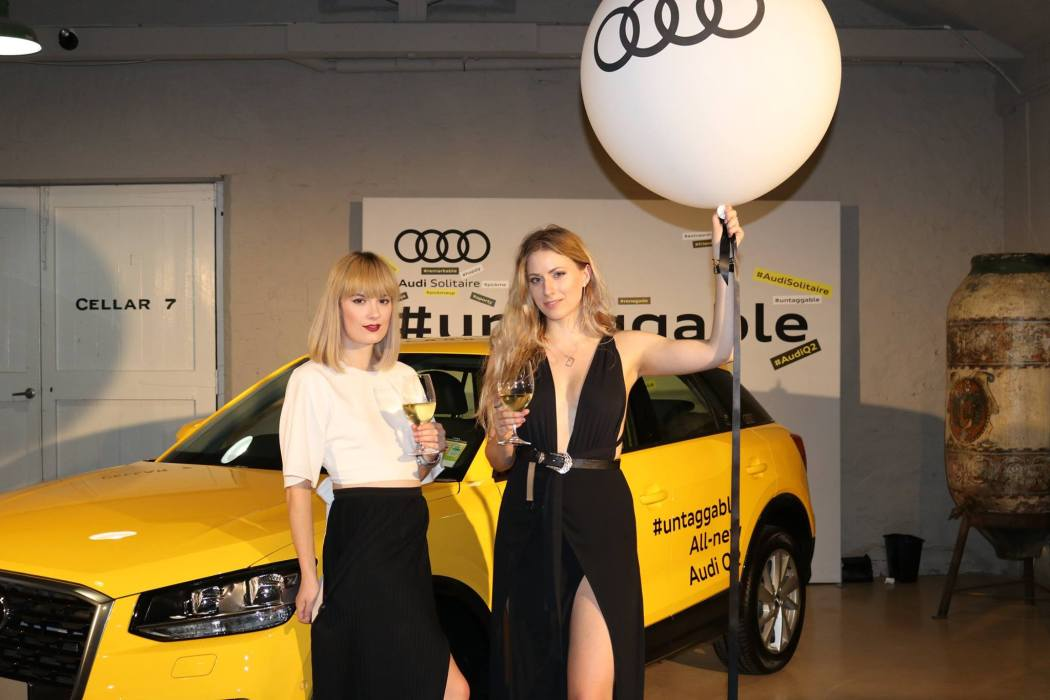 Kristen and Mel at the Audi Q2 launch. Image: https://www.facebook.com/AudiSolitaire.
