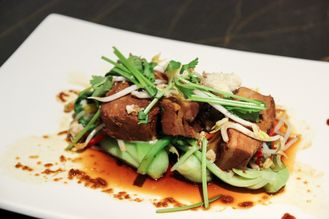 Pork Belly with Asian Greens.