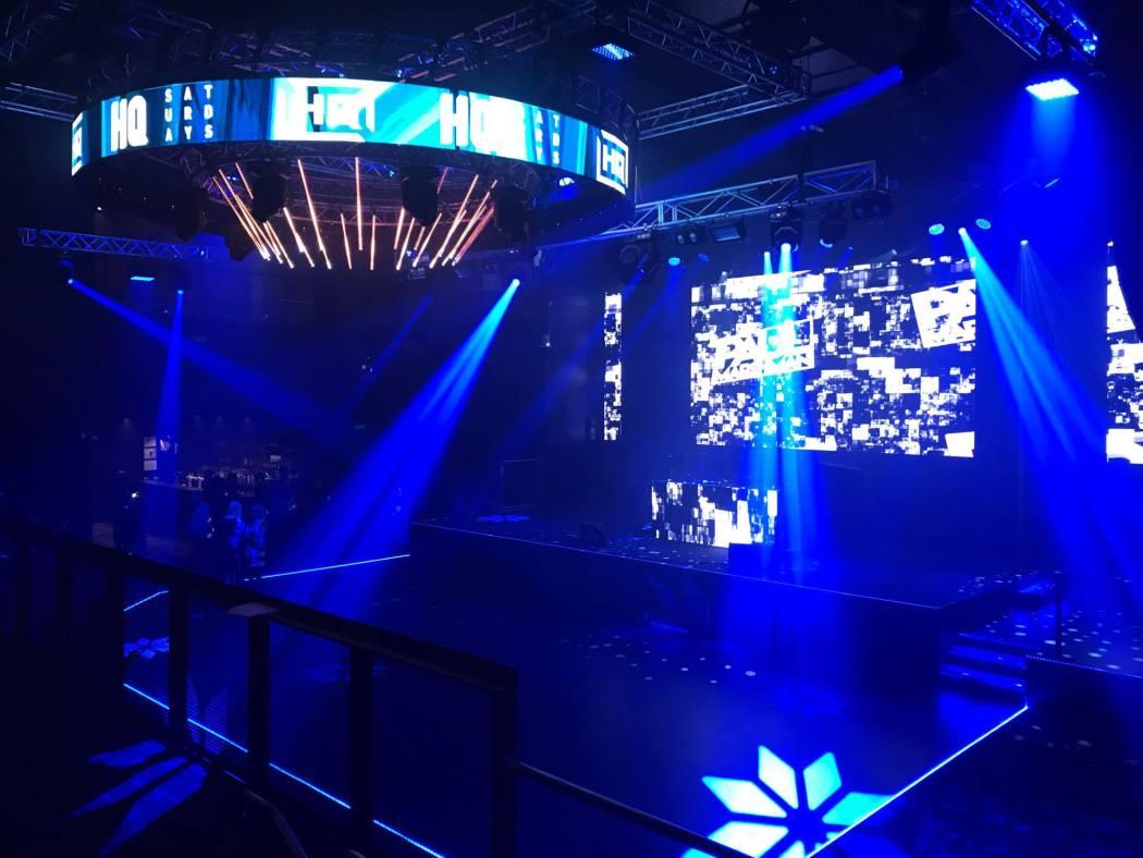 The main room ft. crazy light show