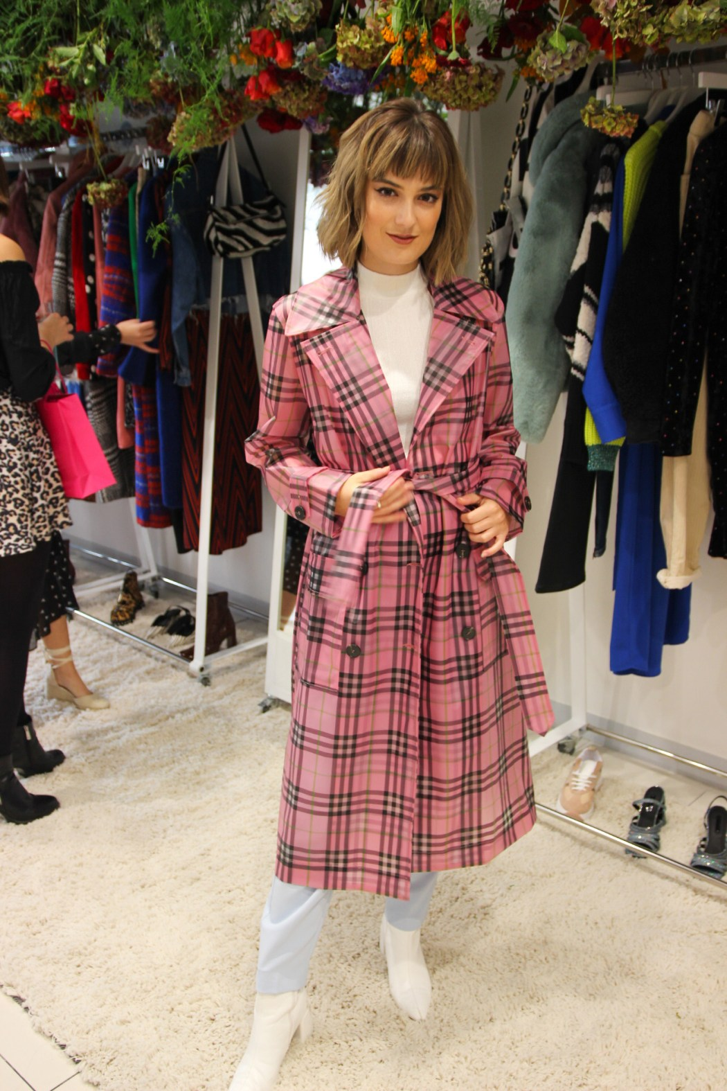 Plaid coat from Topshop