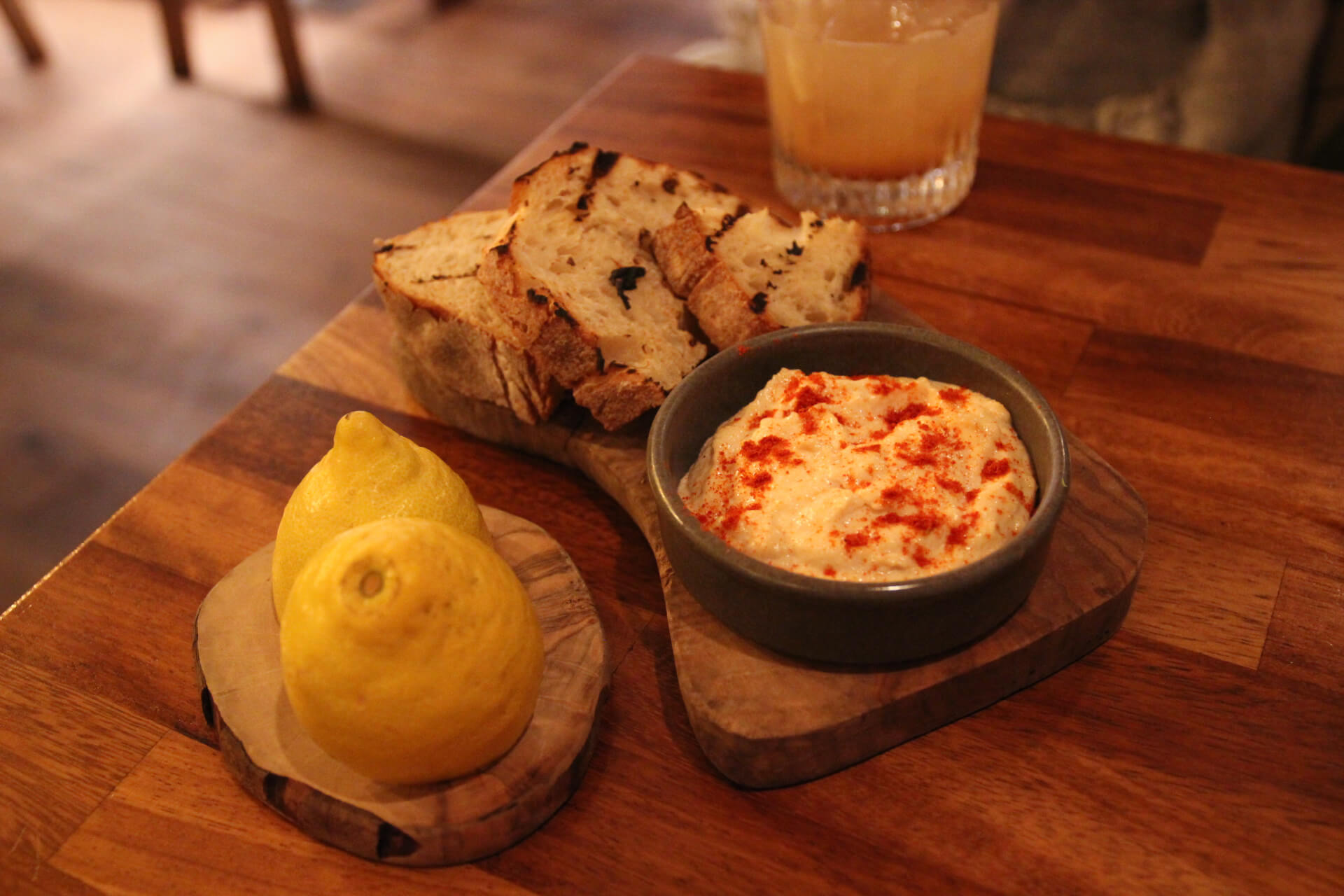 Taramasalata with crusty bread