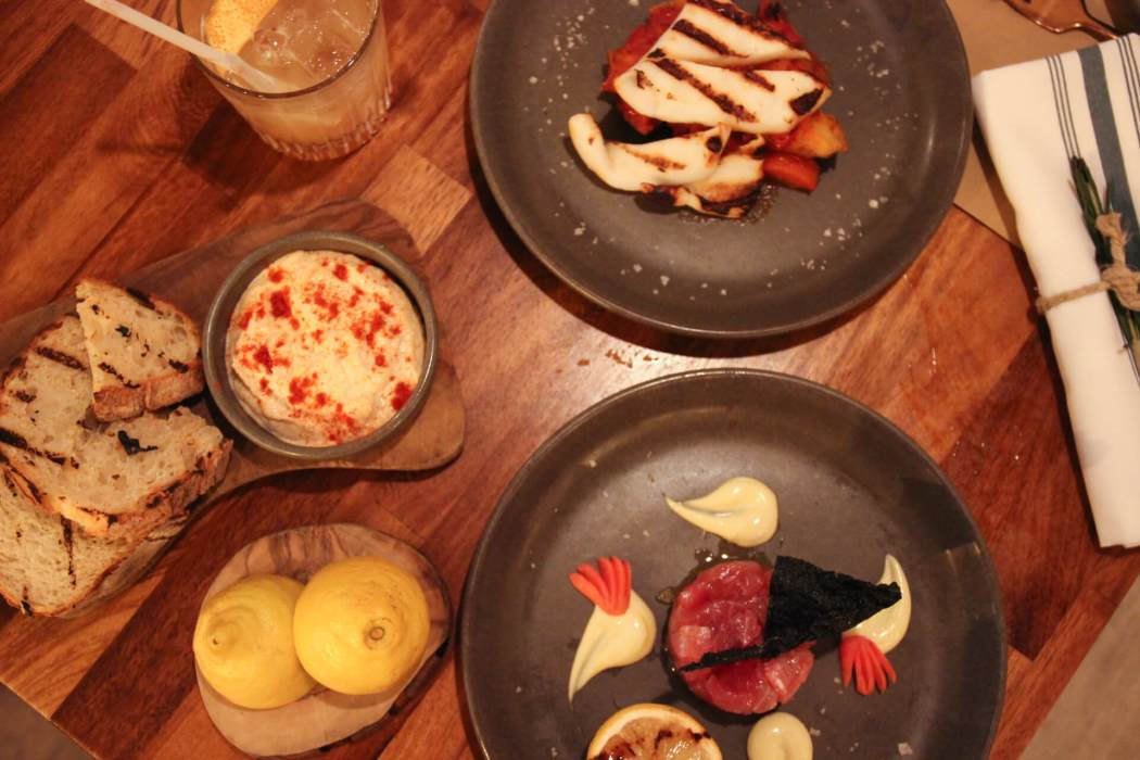A selection of food at bucket London