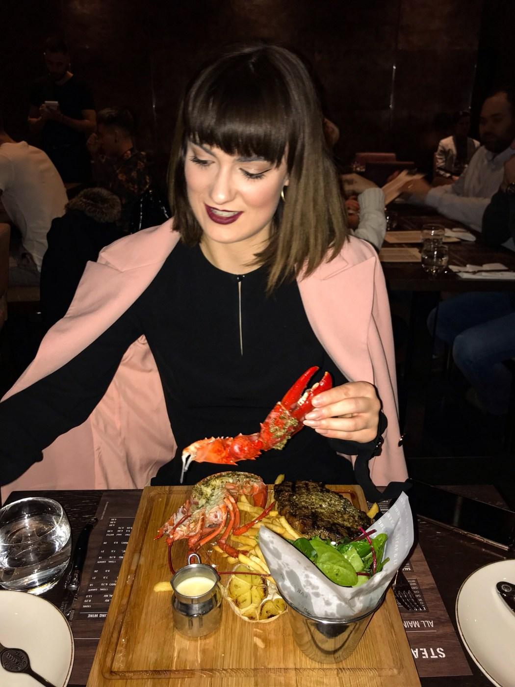 kristen byass at steak and lobster bloomsbury