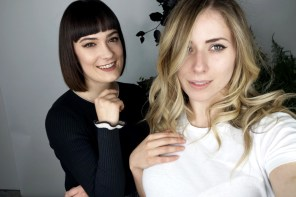 Selfie Kristen Byass and Melissa Zahorujko at the launch of Redken Naturals, Radio Hair Salon Kings Cross.