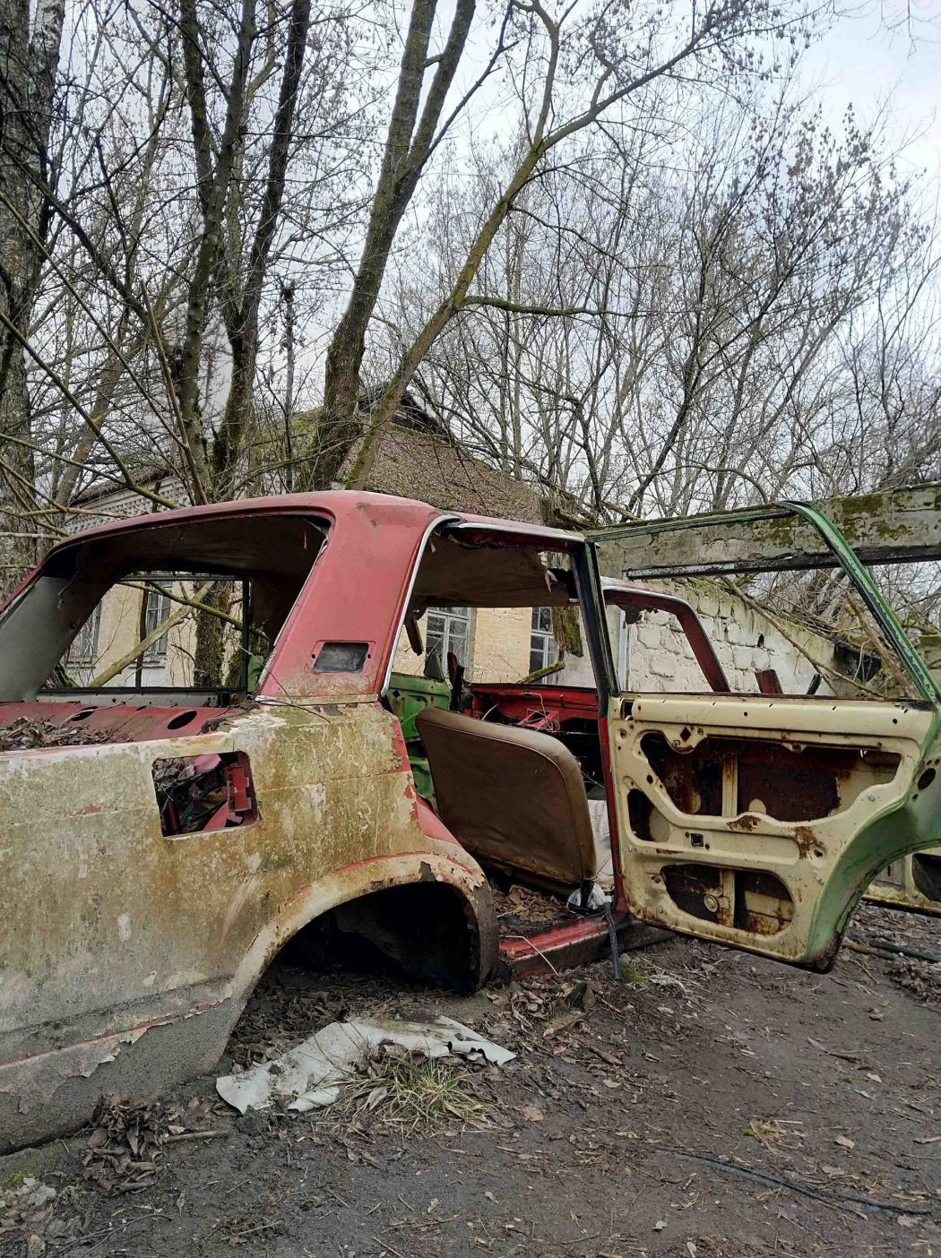 Chernobyl abandoned car