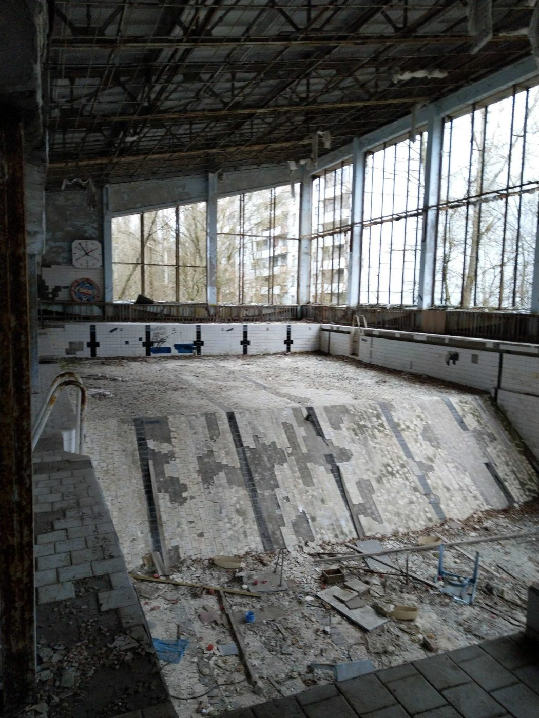The Chernobyl abandoned swimming pool