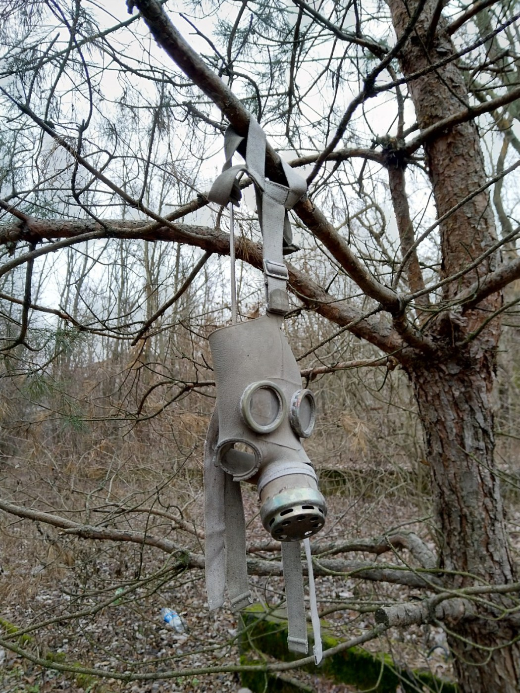 Hanging gas mask Chernobyl