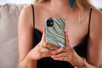 Ideal of Sweden Cosmic Green Swirl iPhone 11 Case