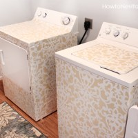 DIY Painted Washer & Dryer